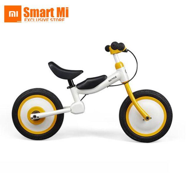 Xiaomi MiJia QiCycle Moto Scooter de Tres Ruedas de 12 Pulgadas para Los Niños de Diapositivas de Color Amarillo y bicicleta de Doble Uso