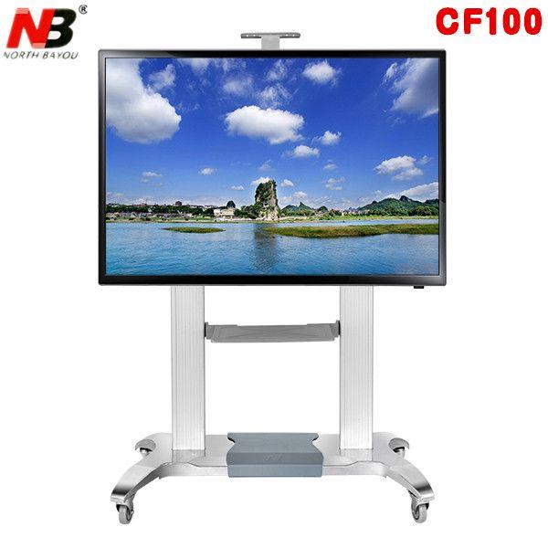 NB CF 100 Luxus Heavy Duty Aluminium 60-100 zoll LED LCD TV Mobile Warenkorb Freies Heben Und Erweiterung basis