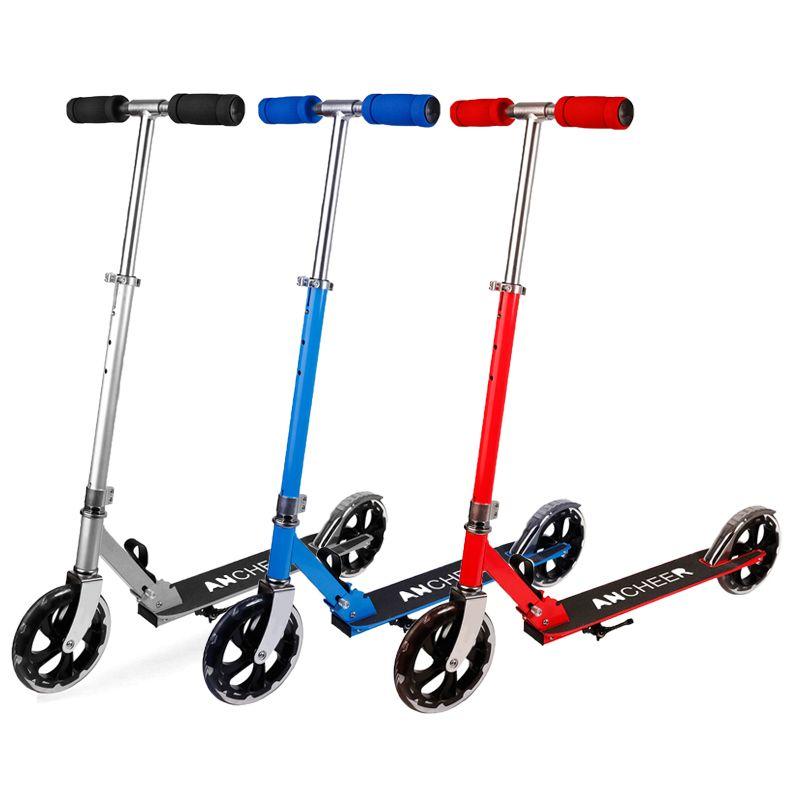 Vente chaude En Alliage D'aluminium Pied Scooters Adulte Enfants Scooter trottinette Réglable Pliant Planche Patinete Adulto
