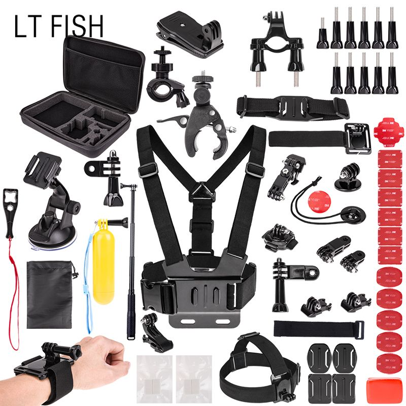 LT FISH for Gopro Accessories set for Go Pro HERO6 5 4 3 & for SJ4000/SJ5000//SJ6000/SJCAM Xiao mi Yi 4K/M20 4K/AKASO EK7000