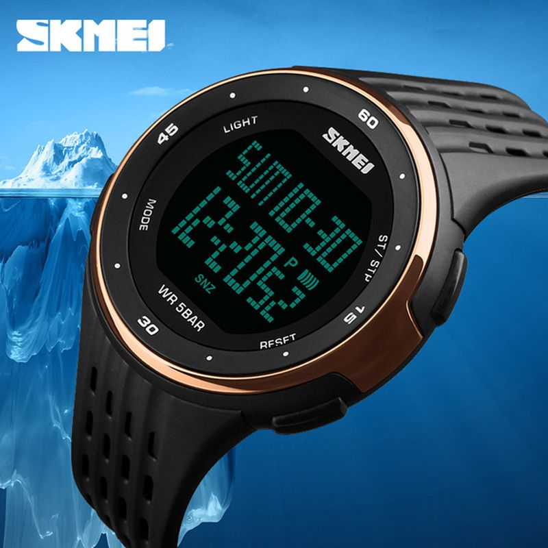 Mens Watches Top Brand Luxury SKMEI Military Sports Watch Men Digital Waterproof LED Wrist Watch Outdoor Man <font><b>relojes</b></font> hombre 2017