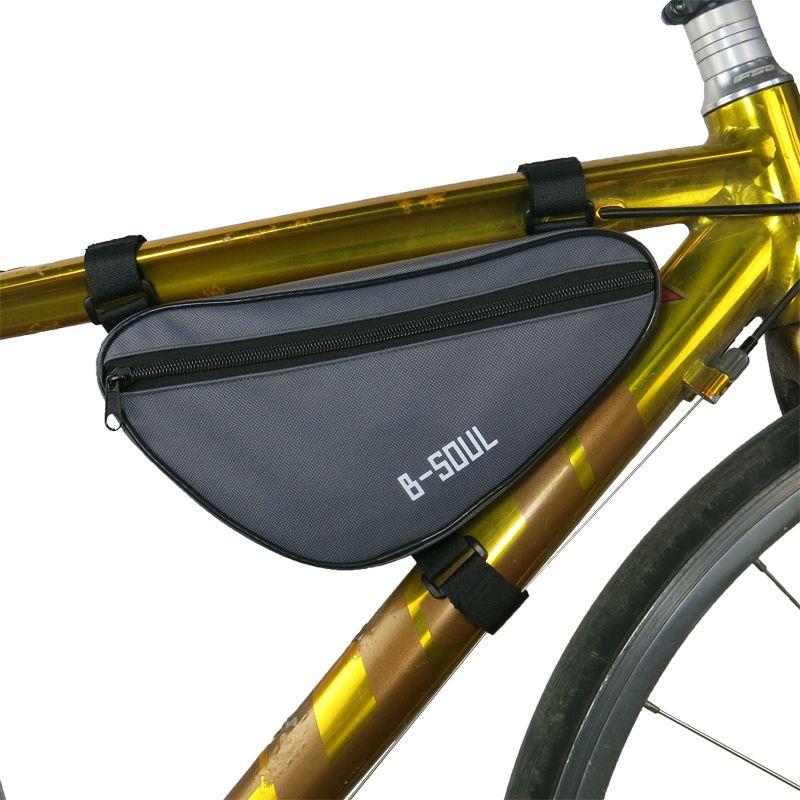 HEIßER Radfahren Fronttasche Wasserdichte Außen Dreieck Fahrrad Frontseiten-schlauch Rahmentasche Mountain Bike Fahrradrahmen Tasche zubehör