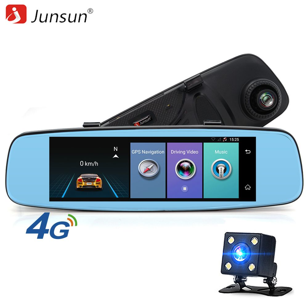 Junsun A880 4G ADAS Car Mirror DVR Camera 7.86