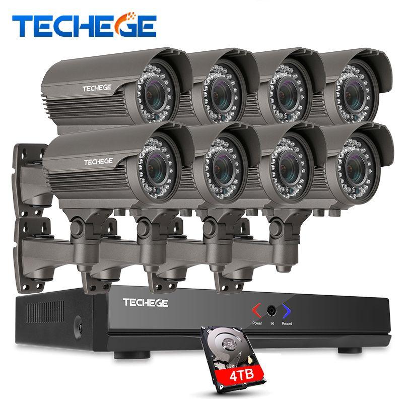 Полный 8ch 1080 P PoE Комплект 48 В PoE NVR 8 шт. 2.0mp POE IP Камера 2.8-12 мм зум P2P Облако системы видеонаблюдения система видеонаблюдения