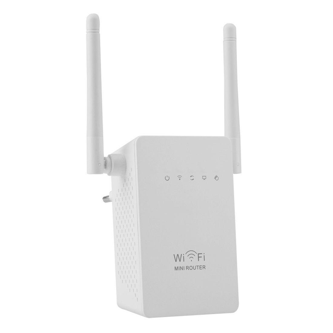 NOYOKERE 300Mbps WiFi répéteur gamme réseau Extender Booster N300 simple augmentation double antennes externes ue prise américaine