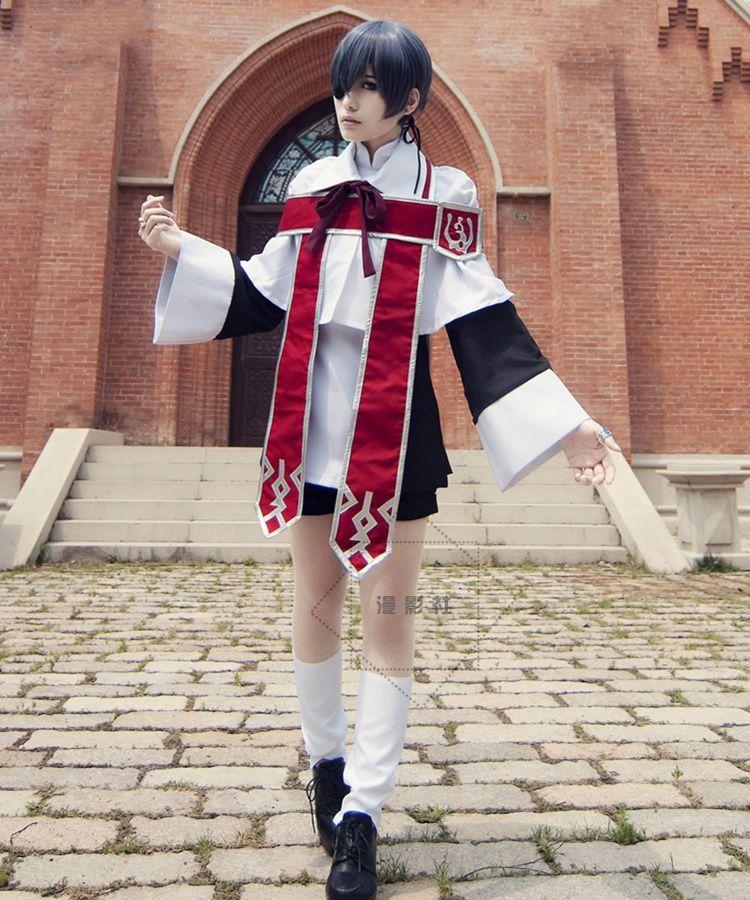Majordome noir kuroshisuji Ciel fantôme Cosplay Costume église choeur uniforme Costumes + anneau Halloween Costumes pour femmes/hommes S-XL