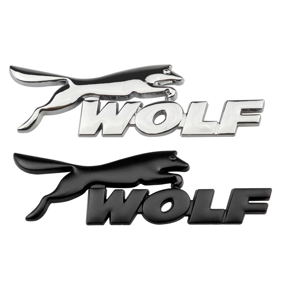Car Styling Wolf Emblem Sticker Badge Decals Auto Accessories For Ford Focus 2 Mondeo Kuga Fiesta Escort Mustang Explorer Excape