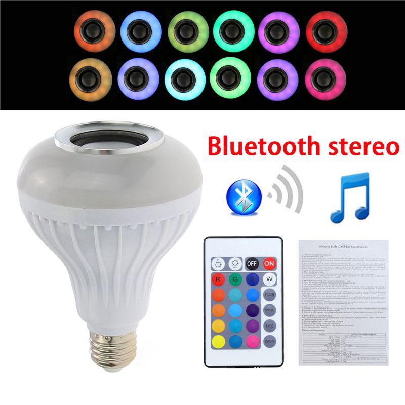 1Pcs E27 B22 E26 RGB Bulb lamp Wireless Bluetooth Speaker Bulb Light Lamp with Wireless Music Speaker Lamp Spotlight