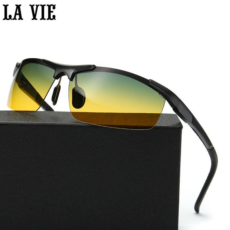 День и ночь vison алюминиево-магниевого сплава Для Мужчин Поляризованные Солнцезащитные очки для женщин уменьшить блики для вождения Защита ...