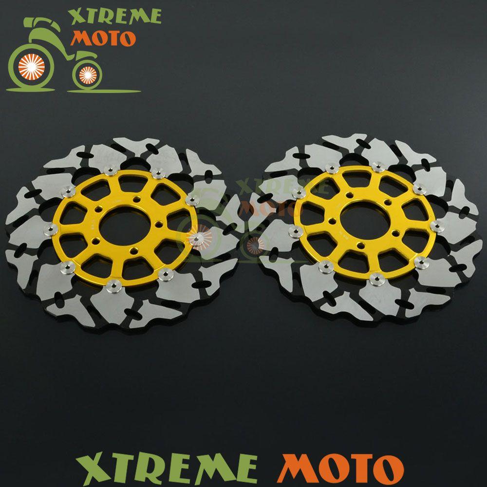 2Pcs Black Motorcycle Front Floating Brake Disc Rotor For GSX600 R GSXR600 GSXR750 GSXR1000 GSXR1300 TL1000T TL1000S
