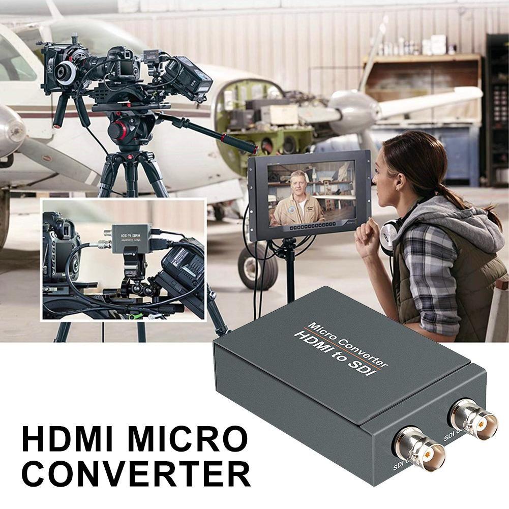 2-weg Micro Converter SDI Zu HDMI Micro Converter HDMI Zu SDI Mit Power Mini 3G HD Konverter adapter Auto Erkennung Für Kamera