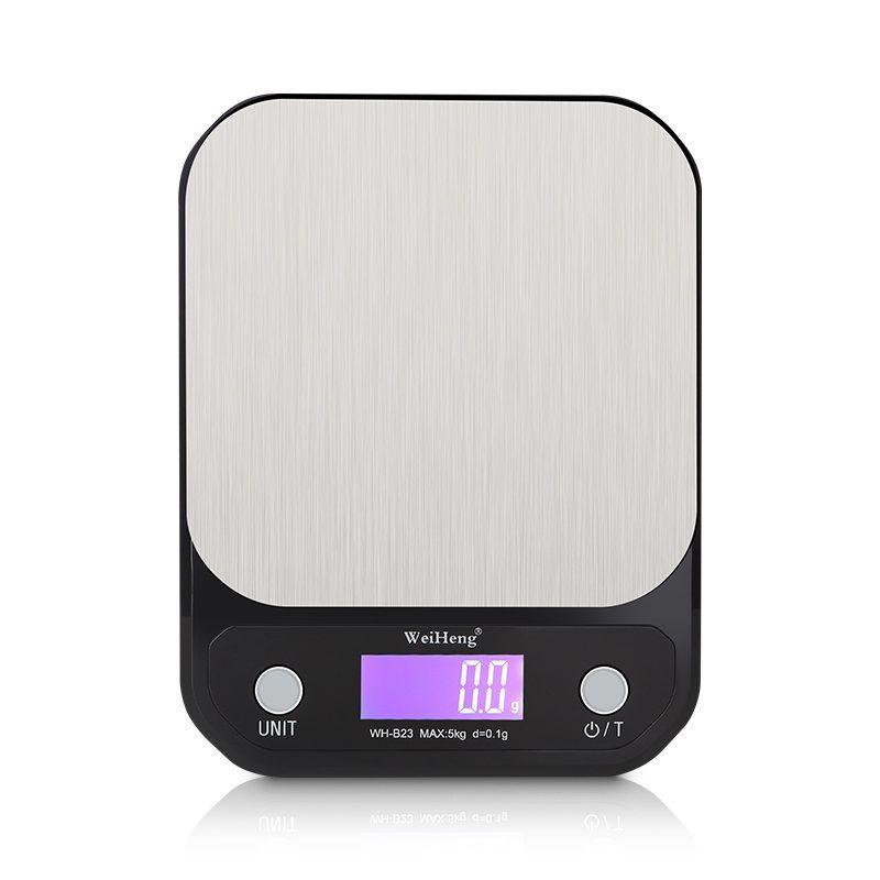 WeiHeng 10000g 1g Acier Inoxydable Balance de Cuisine Numérique de Cuisson Des Aliments Alimentation Cuisson Mesure Outil 10 kg Poids Équilibre LCD Rétro-Éclairage