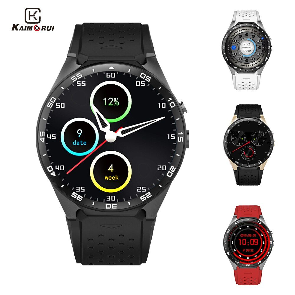 Kaimorui KW88 Smart Watch Android 5.1 MTK6580 Quad Core 1.3GHZ 1.39 Inch 512MB+4GB Smartwatch SIM Card GPS WiFi Call Reminder