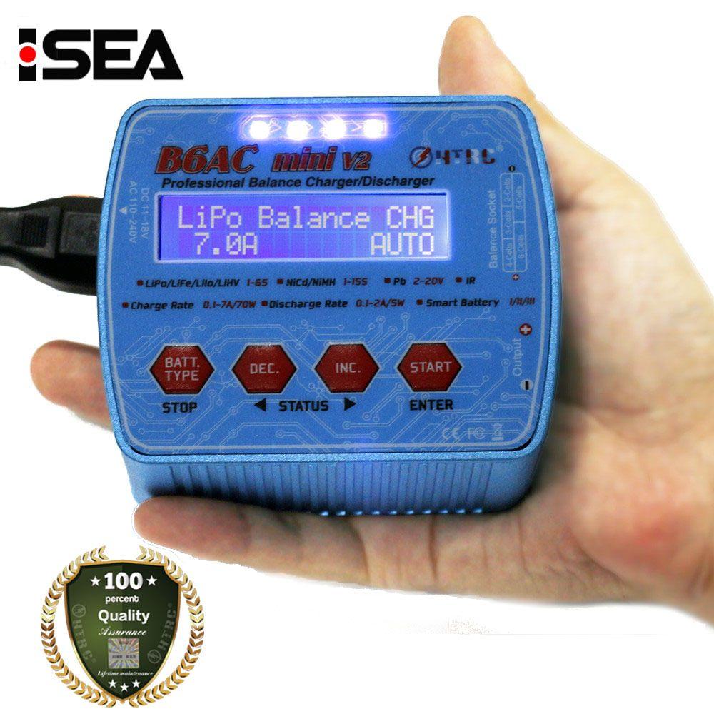 2017 HTRC iMax B6AC Mini V2 70W 7A Digital Pocket RC Battery Balance Charger Lipo Lihv LiIon LiFe <font><b>NiCd</b></font> NiMH Battery Discharger