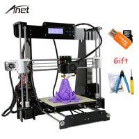 Anet A8 i3 Impresora 3D Impresora de alta precisión Impresora 3D DIY Kit de aluminio con extrusora de semillero tarjeta SD construir herramientas de filamento