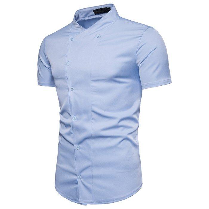 TAPOO Men Fashion cotton Summer Short-sleeve Shirt Men Slim Short-sleeve Shirt cotton 2xl