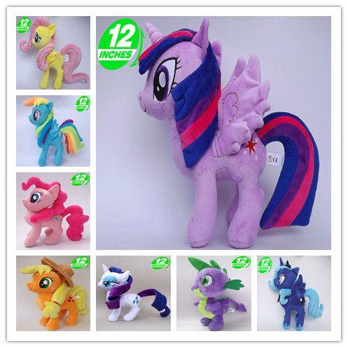 Unicorn Pets Horse Princess Celestia Princess Luna Rarity Kunai Soft Plush Toys Animal Doll Christmas Little Gift