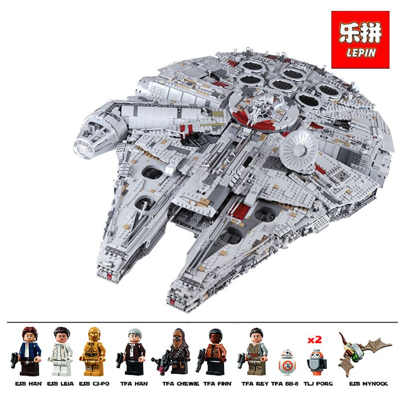 lepin 05132 star set wars star destroyer millennium falcon compatible with LegoINGlys 75192 bricks kit building blocks birthday