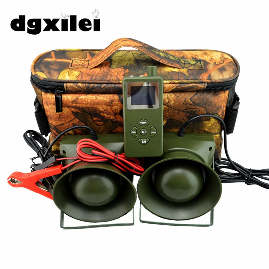 2pcs 60W speaker Hunting Bird Sound Mp3 player goose duck sounds caller hunting decoy