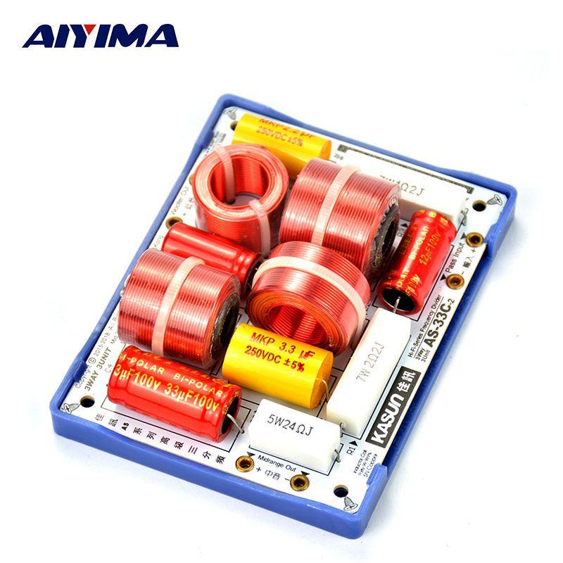 AIYIMA 2 pcs Basses Médium Aigus 3Way Crossover Carte Audio Haut-parleurs Professionnels Diviseurs De Fréquence Filtres Pour Home Cinéma