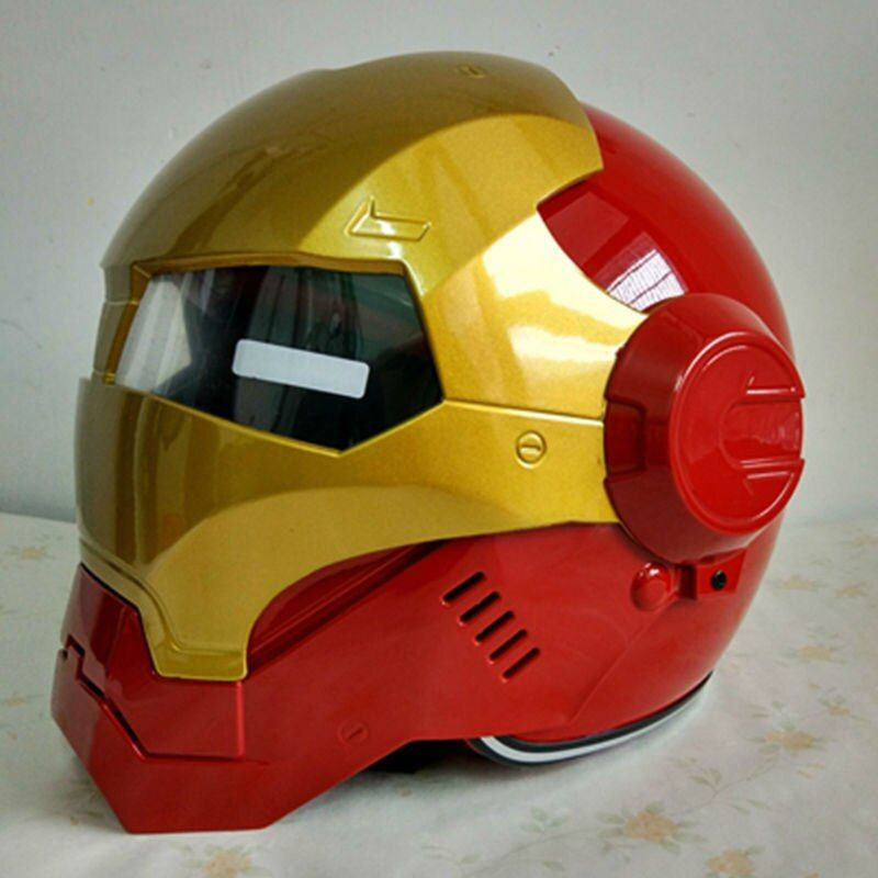 NOUVEAU Gris MASEI IRONMAN Iron Man casque moto casque rétro moitié casque open face casque 610 ABS casque motocross