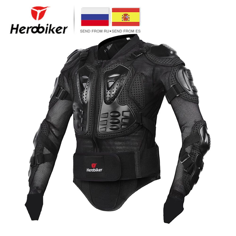 HEROBIKER Motorcycle Jacket Men Full Body Motorcycle Armor <font><b>Motocross</b></font> Racing Protective Gear Motorcycle Protection Size S-5XL