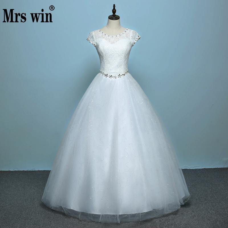 Neue 2018 Koreanischen Stil Hochzeit Braut Kleider Doppel Schultern Spitze Up Große Größe Hochzeit Kleid Vestido Casamento