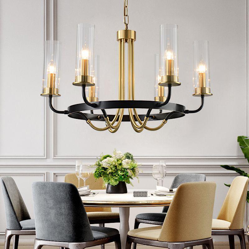Moderne Glanz Kupfer Led Kronleuchter Beleuchtung Glas Schatten Wohnzimmer Led Anhänger Kronleuchter Lichter Esszimmer Suspension Lampe
