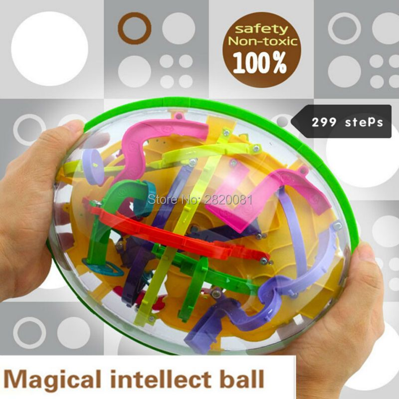 299 steps 3D magical intellect maze ball ,IQ balance logic ability perplexus magnetic toys,training tools smart challenge game