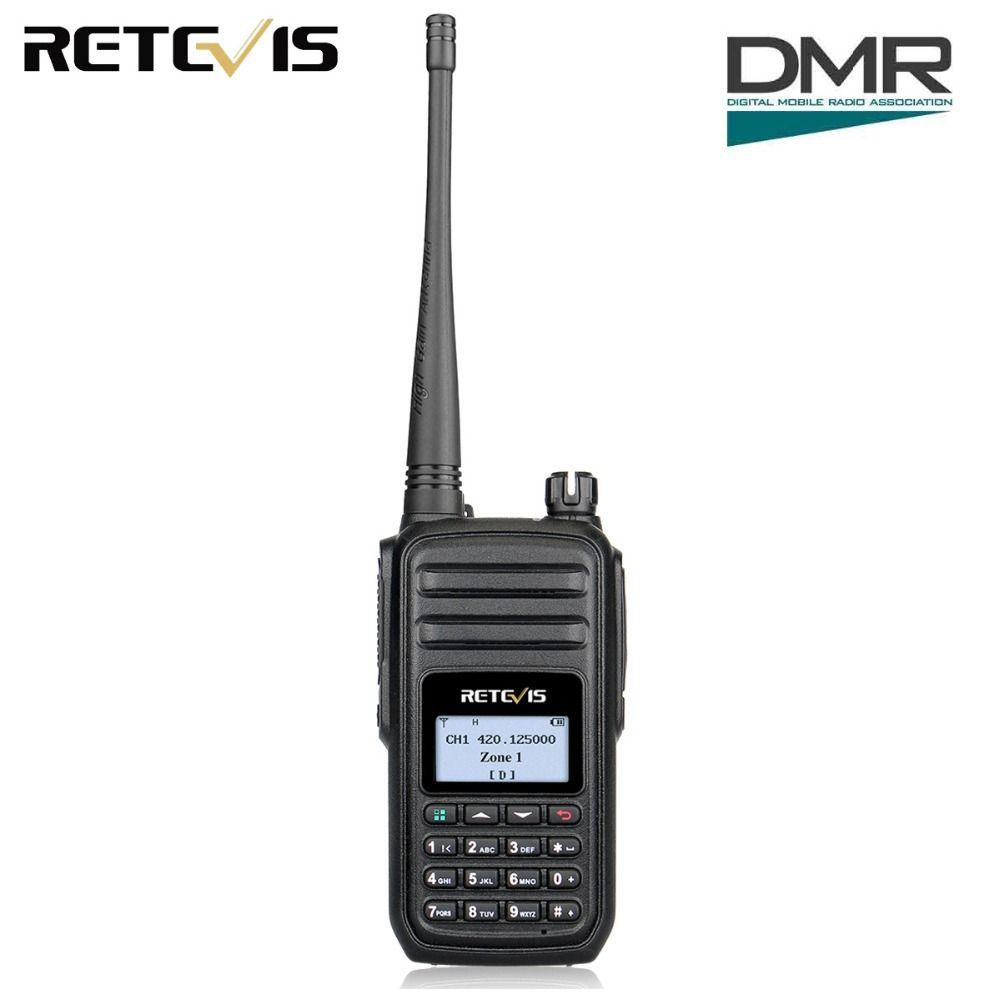 Retevis RT80 DMR Radio Numérique Mobile Radio UHF 400-480 MHz 5 W 999 Canaux VOX Alarme Ham Radio Hf Émetteur-Récepteur