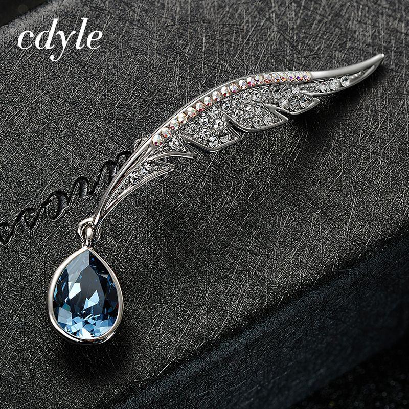 Cdyle кристаллами от Swarovski Rotro Броши для женщин австрийский горный хрусталь Асфальтовая Модные Винтажные изделия и одежда аксессуары
