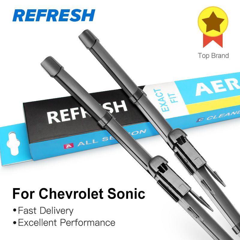 REFRESH Wiper Blades for Chevrolet Sonic Fit Pinch Tab Arms 2011 2012 2013 2014 2015 2016