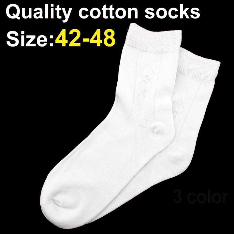 Grande taille 42--48 Bambou et coton Fiber hommes chaussette haute qualité chaussette casual chaussettes 10 paires/lot 3 couleurs livraison gratuite