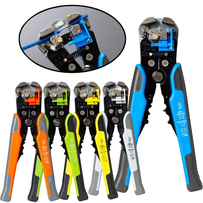 HS-D1 Crimper Cable Cutter Automatic Wire Stripper Multifunctional Stripping Tools Crimping Pliers Terminal 0.2-6.0mm2 tool