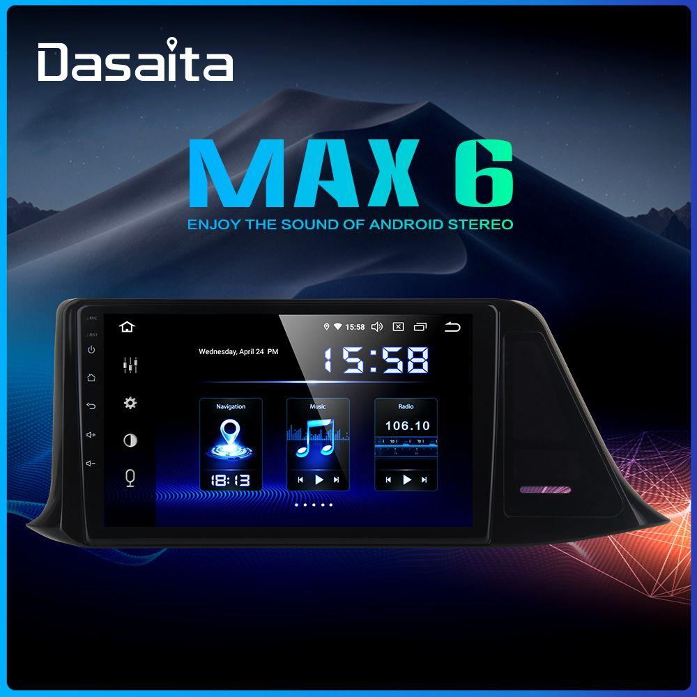 Dasaita Autoradio 1din Android 9.0 Auto Radio für Toyota C-HR CHR 2016 2017 2018 GPS Auto Stereo 9