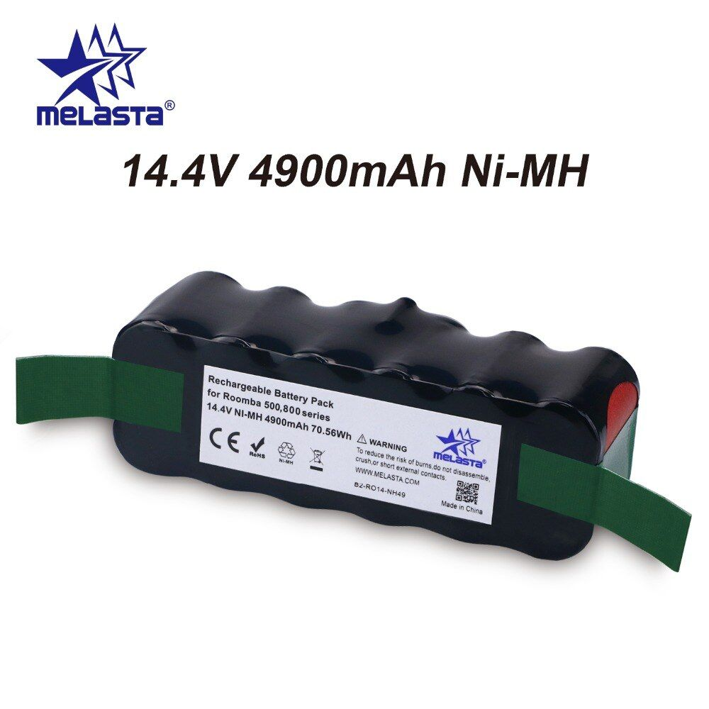 Updated <font><b>Capacity</b></font> 4.9Ah 14.4V NIMH battery for iRobot Roomba 500 600 700 800 Series 510 530 550 560 620 650 770 780 870 880 R3