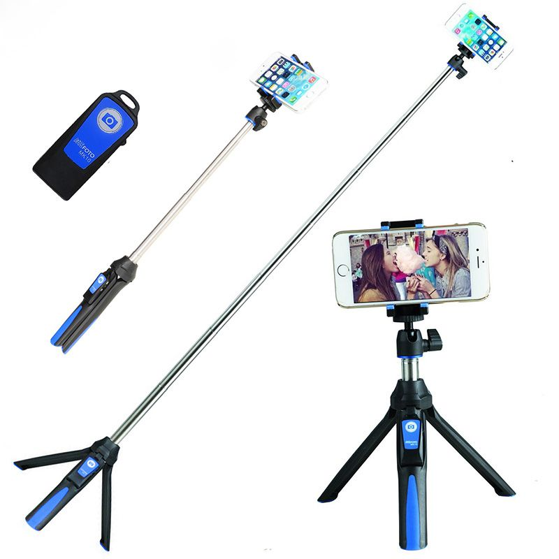 Ulanzi Handheld & Tripod Combo Selfie Stick with Bluetooth Remote & GoPro Exclusive Adapter For iPhone 7 Sumsang Galary Huawei