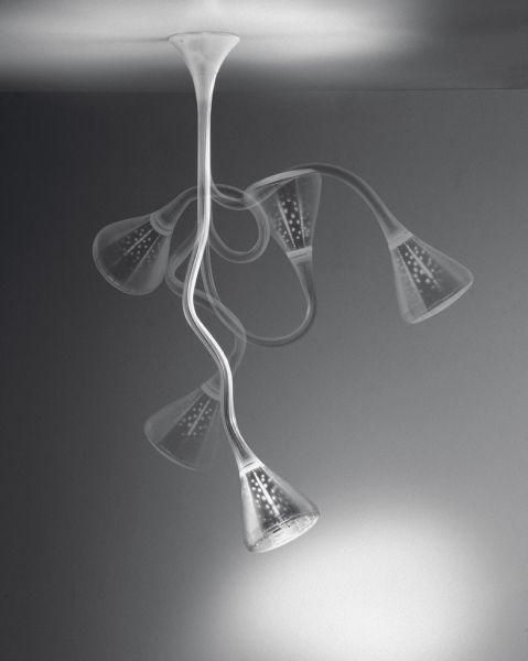 Modern minimalist PIPE hose ceiling light flexible lotus head living bed room lamp
