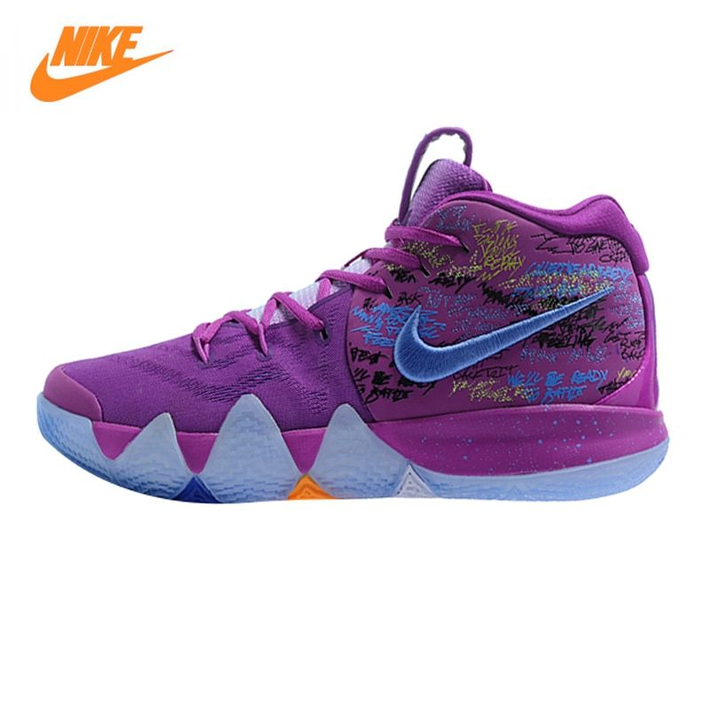Nike Kyrie 4 Irving 4th Generation Confetti Men's Basketball Shoes,Purple, Shock Absorption Wear Resistant Wraparound AJ1691 900