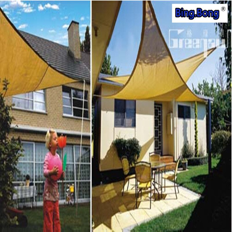 hot sale UV Waterproof triangles awning outdoor sun shade sail 5*5*5 m toldo courtyard pool Shade net gazebo canopy swiming pool