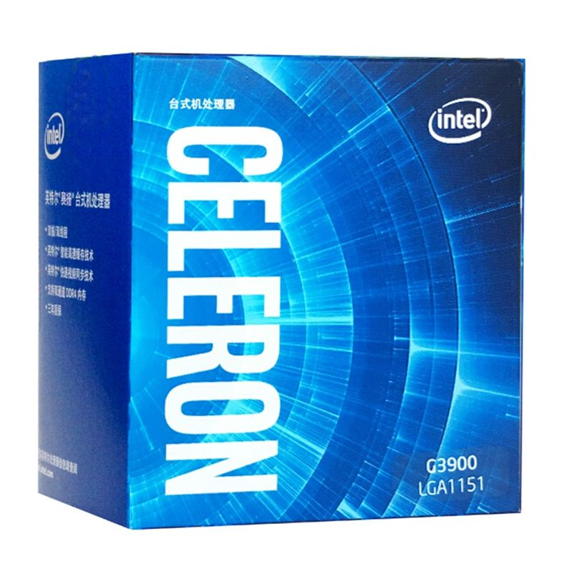 Intel Celeron Processor G3900 Boxed processor LGA1151 14 nanometers Dual-Core 100% working properly Desktop Processor
