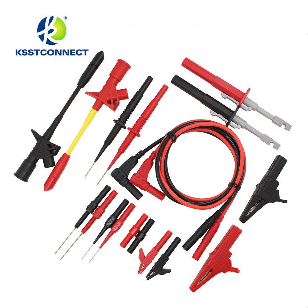 DMM09 9 Paare/satz Elektronische Specialiteiten Messleitung kit Automotive Test Probe Kit Universal Multimeter messfühlerkabel kit