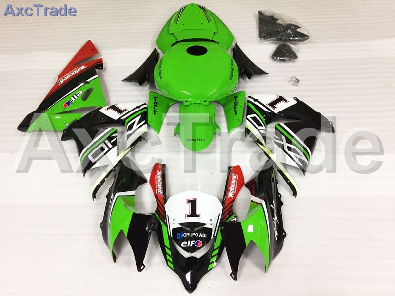 Motorcycle Fairings Kits For Kawasaki Ninja ZX10R ZX-10R 2004 2005 04 05 ABS Plastic Injection Fairing Bodywork Kit Green Red