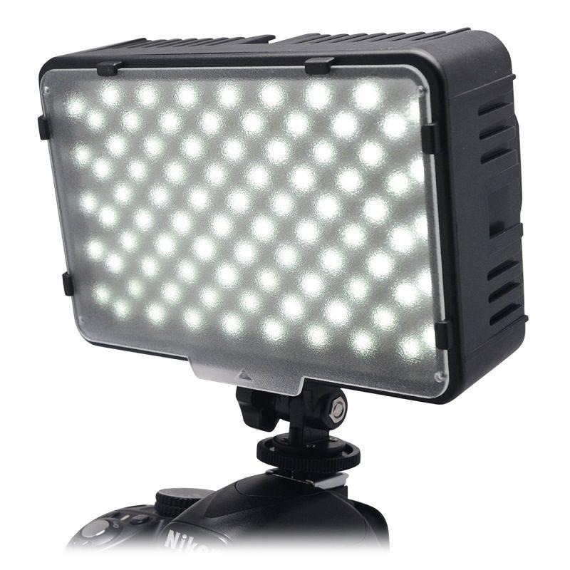 Mcoplus 168 LED Vidéo Lumière Sur L'appareil photo Photographique Photographie Panneau D'éclairage pour Canon Nikon Sony Caméra DV Caméscope VS CN-160