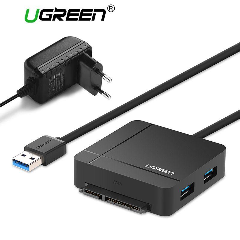 Ugreen USB 3.0 zu SATA Kabel mit Power Adapter für 2,5 3,5 HDD SSD Festplatte SD/TF Karte reader 3,0 HUB USB Sata Adapter