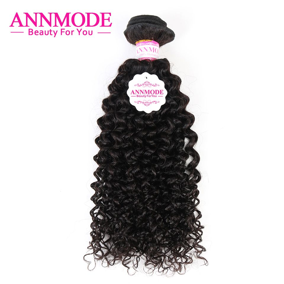 Annmode Afro Kinky Curly Hair for a pc 100g Natural Color 8-28inch Brazilian Hair Non-remy Human Hair can buy 3 bundles or 4 pcs