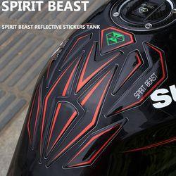 Reflexivo 3D motocicleta moto gas Depósitos de combustible protector pad cubierta decoración para honda yamaha etc espíritu bestia