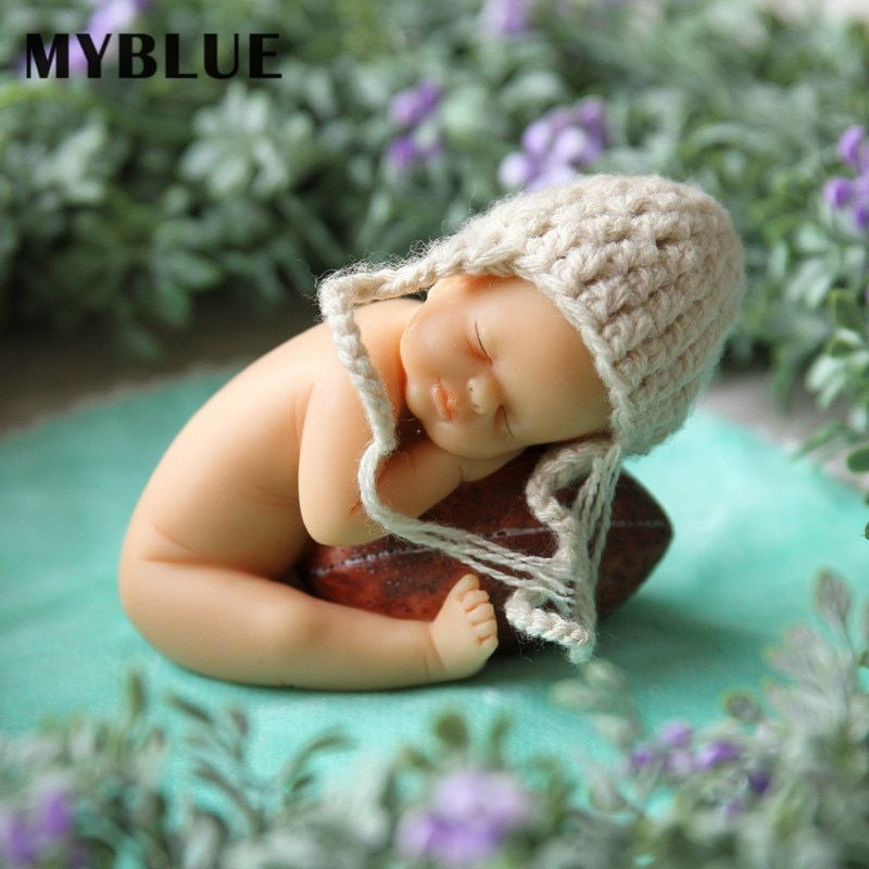 MYBLUE Simulation Kawaii Artificial Resin Baby Figurines Dolls Rural Home Sculpture Decor Decorations Accessories Gifts Crafts