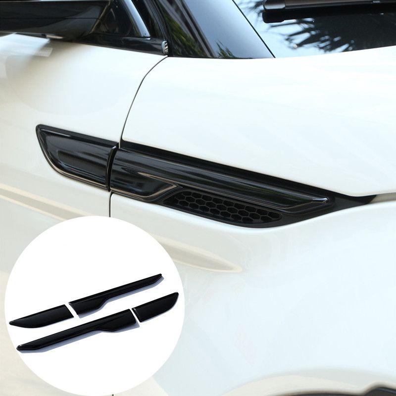 Для Land Rover Range Rover Evoque черная сторона вентиляционное отверстие Выход Обложка отделка 2012-2017 набор 2 шт.