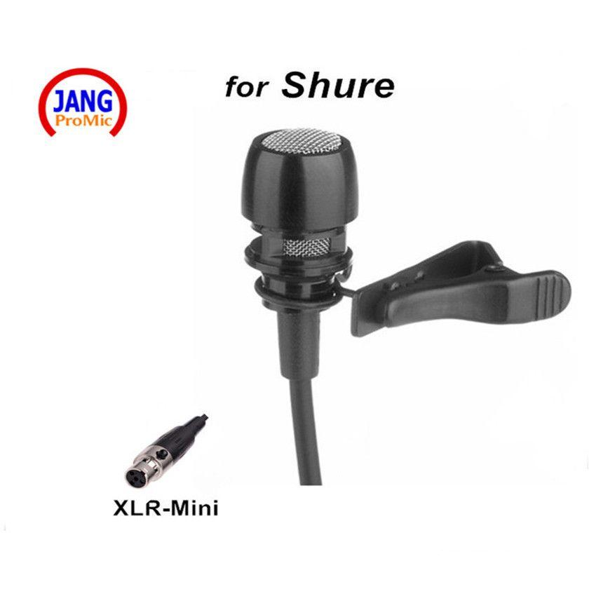 Professionnel Filaire Revers Microphone À Condensateur Son Émission Microfone pour Shure Sans Fil Émetteur etc XLR Mini 4Pin Mikrofon